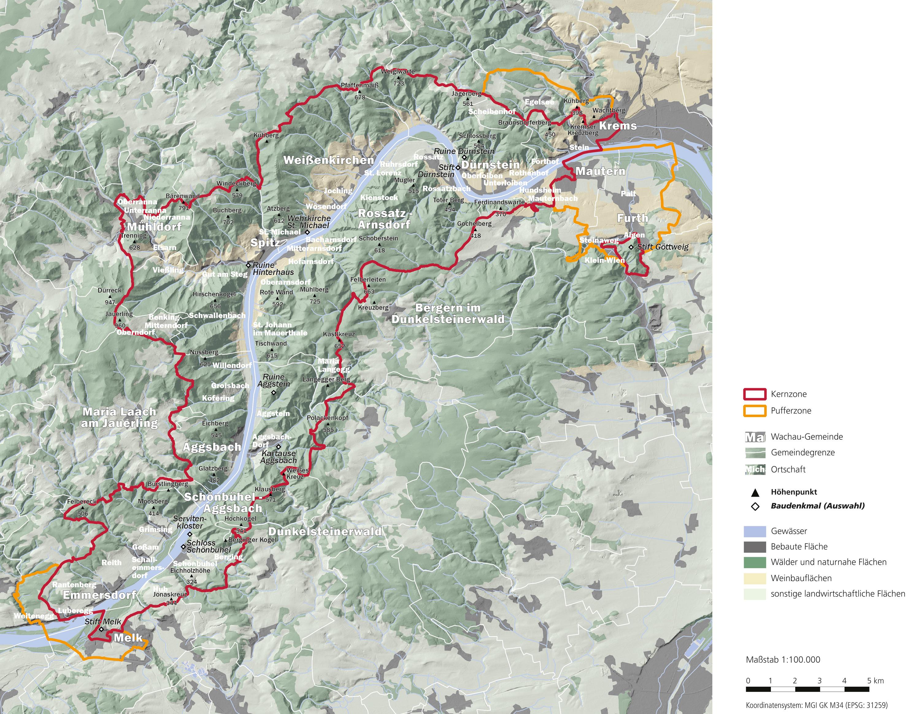 Wachau Karte.Region Wachau Bedeutung Des Welterbe Statuses Für Die Wachau
