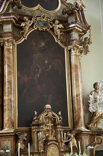 "High altar painting by ""Kremser Schmidt"" in Wösendorf parish church. © Katharina Mahel"